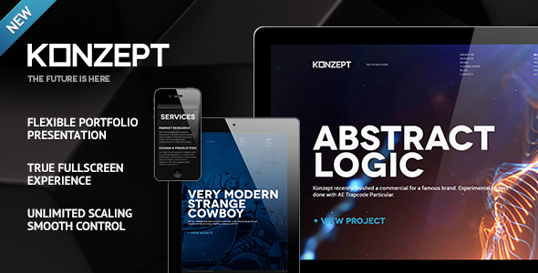 Konzept Fullscreen Portfolio WordPress Theme