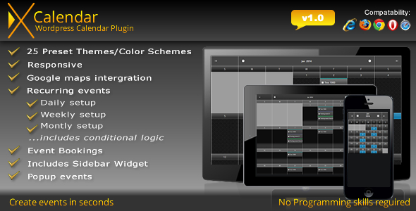 CodeCanyon X Calendar WordPress Calendar plugin 6576022