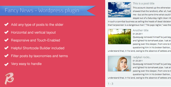 CodeCanyon Fancy News Wordpress plugin 6576038
