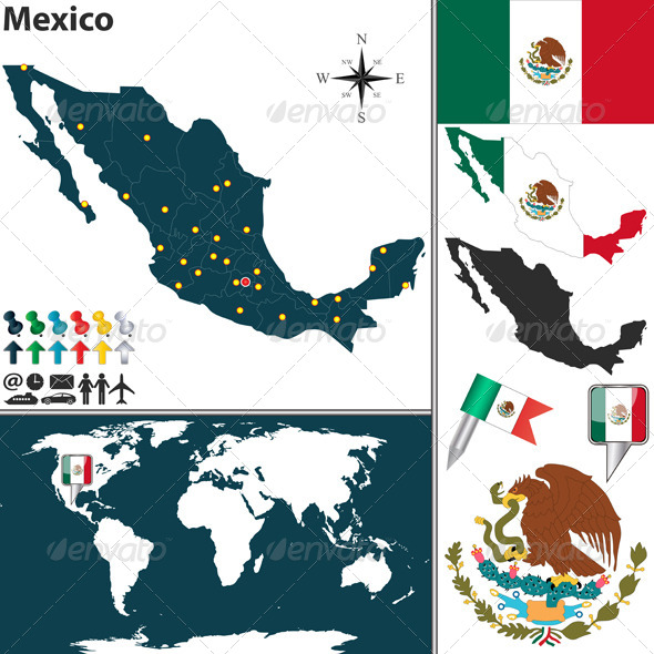 GraphicRiver Map of Mexico 6576187