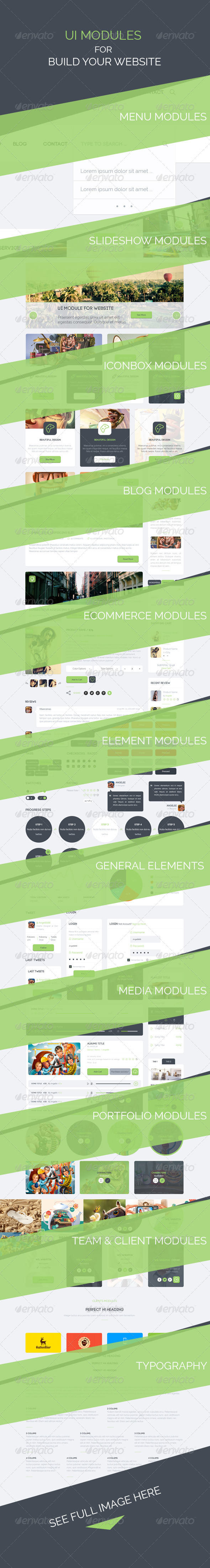 GraphicRiver UI Modules for Build Websites 6562351