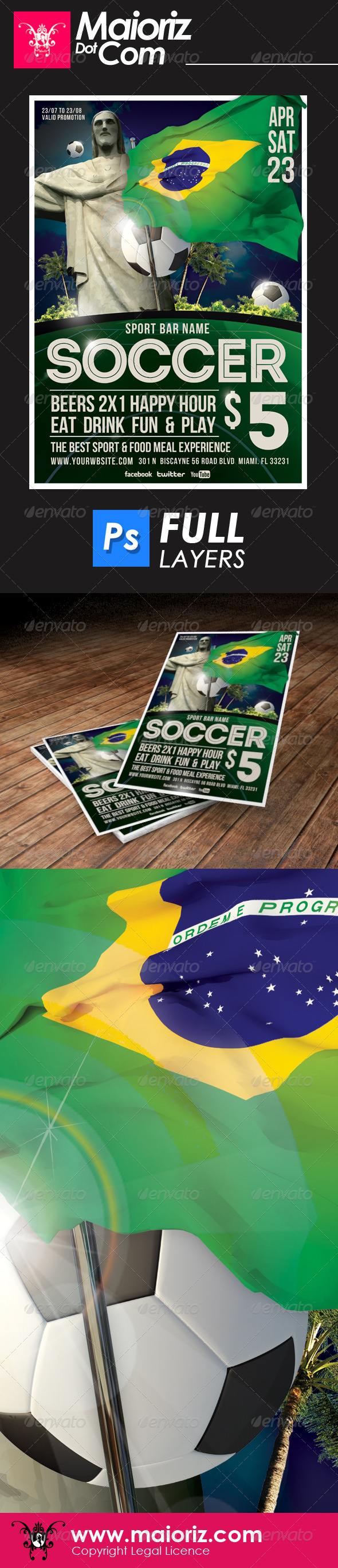 GraphicRiver Sport Soccer Bar Flyer 6576288