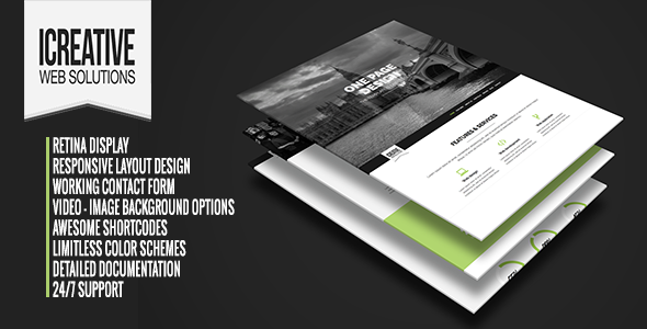 ThemeForest iCreative OnePage Portfolio HTML5 Template 6576291