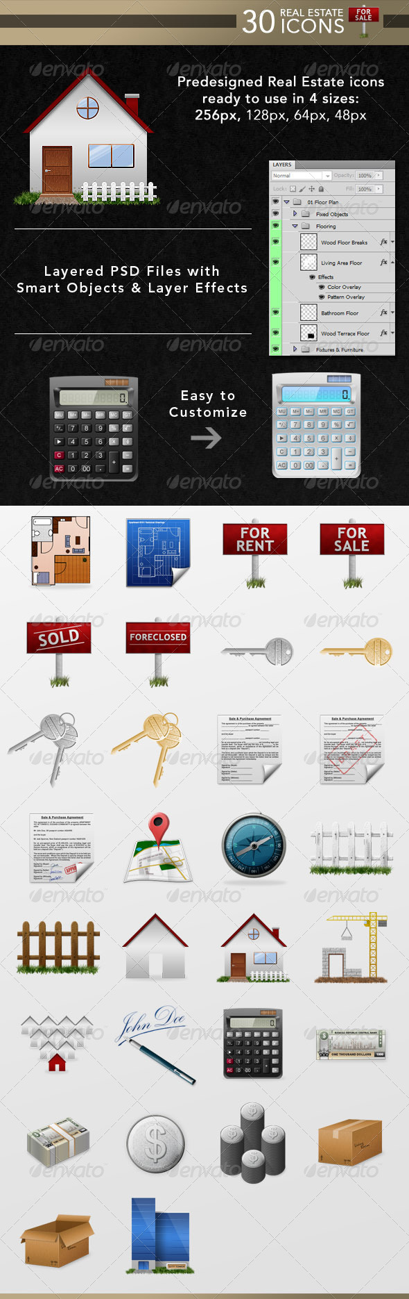GraphicRiver 30 Real Estate Icons 6576345