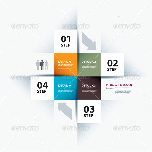 GraphicRiver Business Step Paper Data and Design Template 6576410