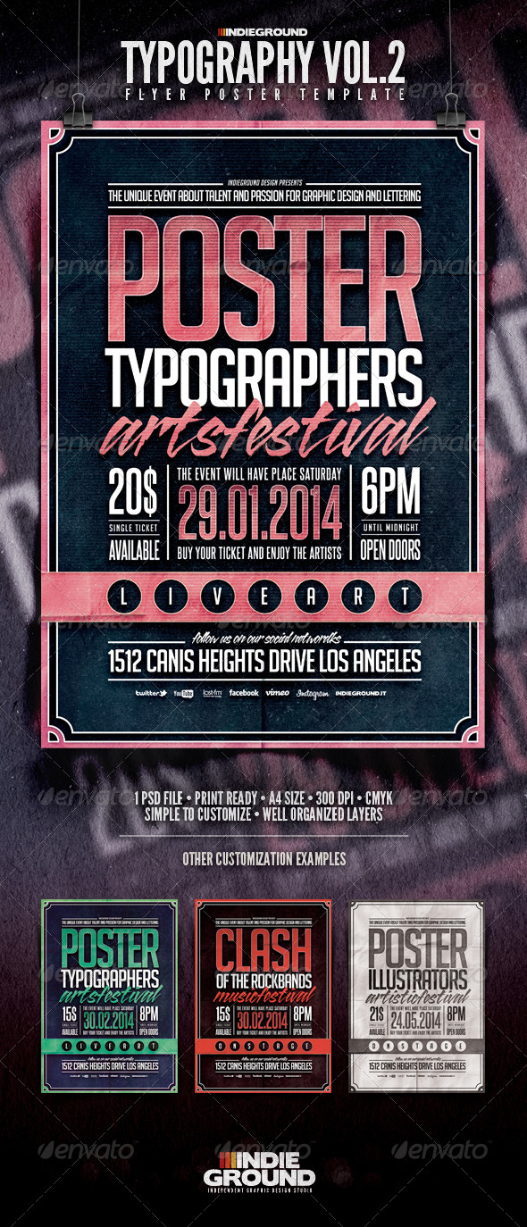 Typography Flyer/Poster Vol. 2 - Events Flyers