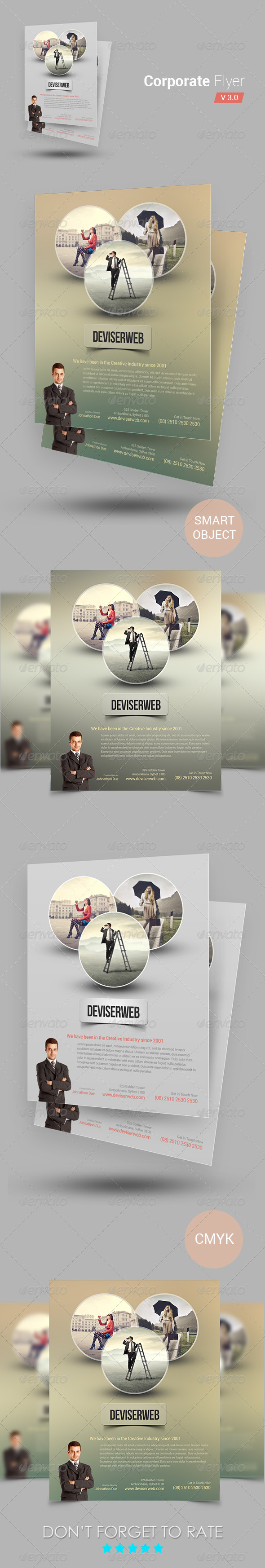 GraphicRiver Corporate Flyer Template 6576569
