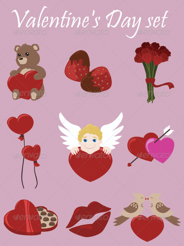GraphicRiver Valentine s Day Set 6576610