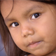 Primitive Native Girl with Beautiful Eyes
