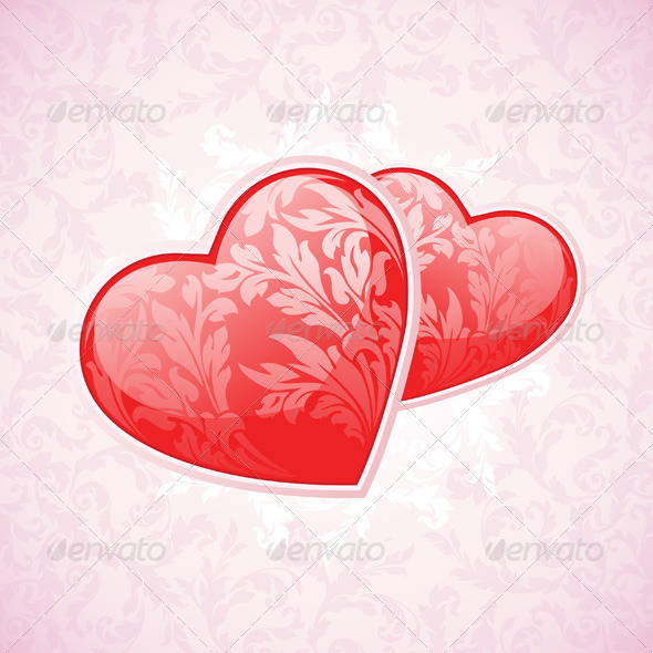 GraphicRiver Happy Valentine s Day Floral Background 6577015