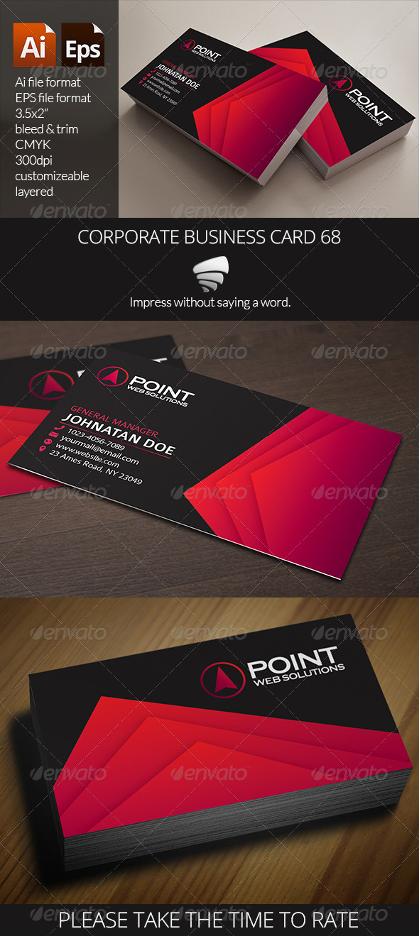 GraphicRiver Corporate Business Card 68 6577092