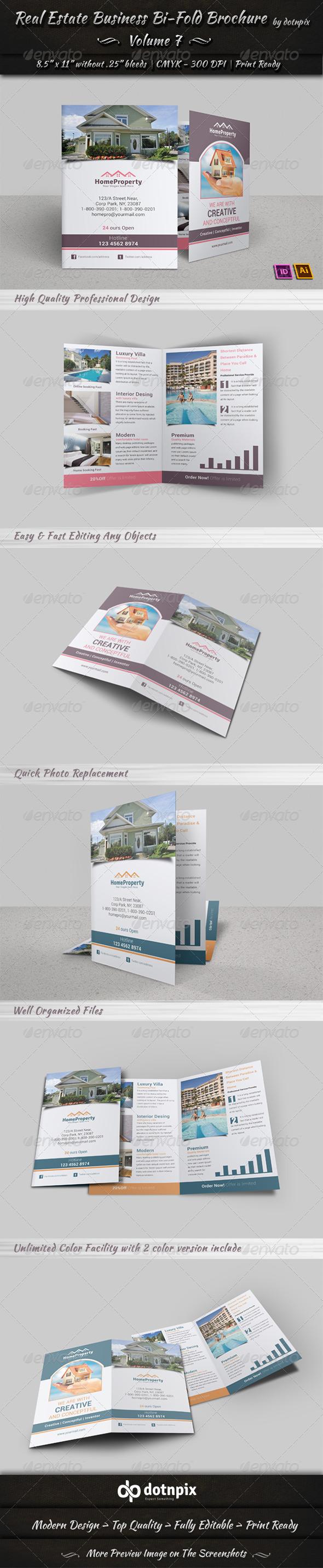GraphicRiver Real Estate Business Bi-Fold Brochure Volume 7 6577119