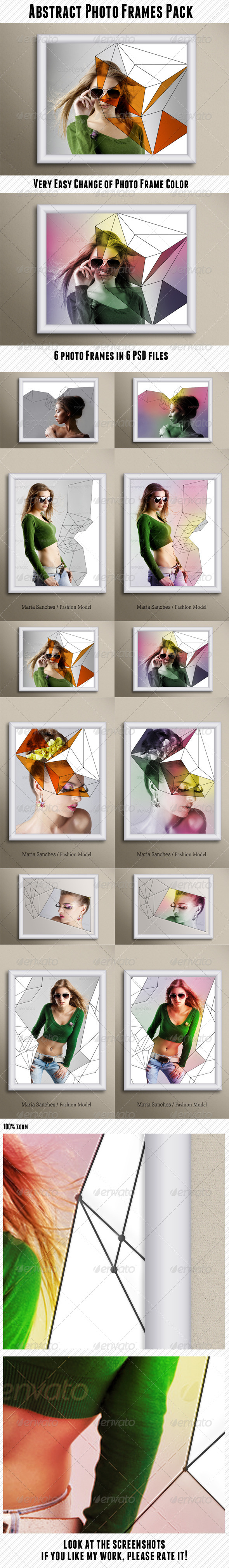 GraphicRiver Abstract Photo Frames Pack 6577185