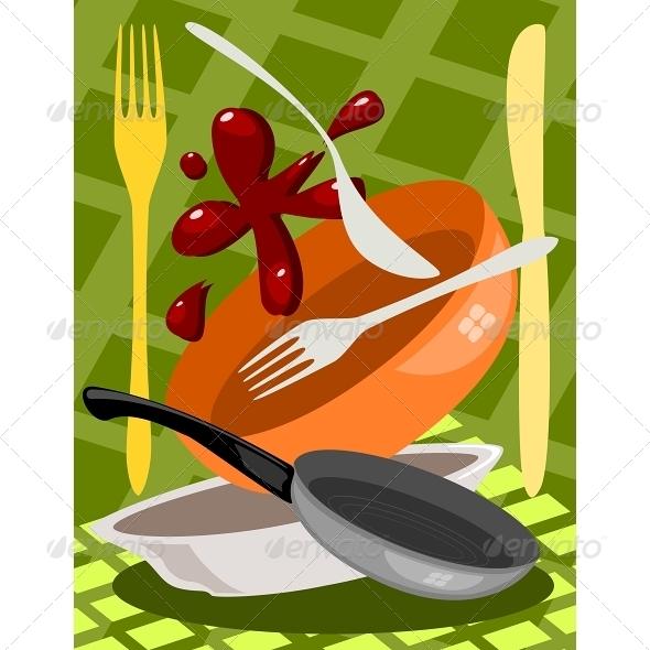 GraphicRiver Kitchen Utensil 6577241