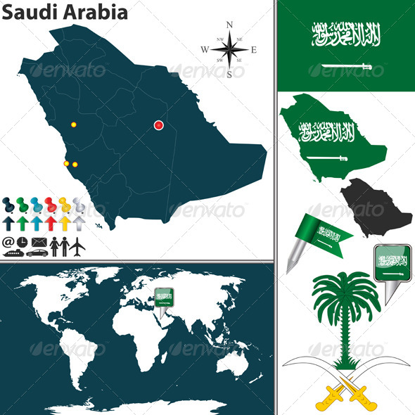 GraphicRiver Map of Saudi Arabia 6577248