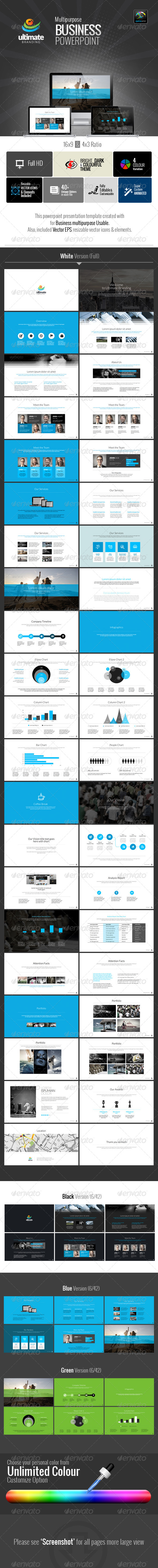 GraphicRiver Ultimate Multipurpose Business PowerPoint 6577310