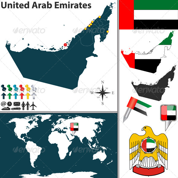 GraphicRiver Map of United Arab Emirates 6577327