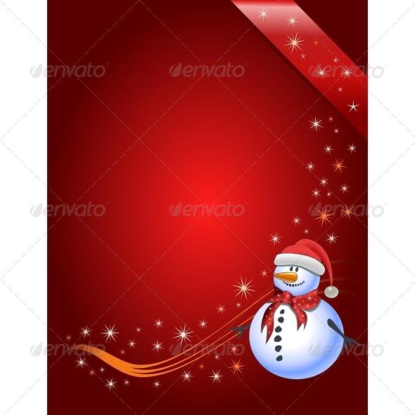 GraphicRiver Snowman Illustration 6577364