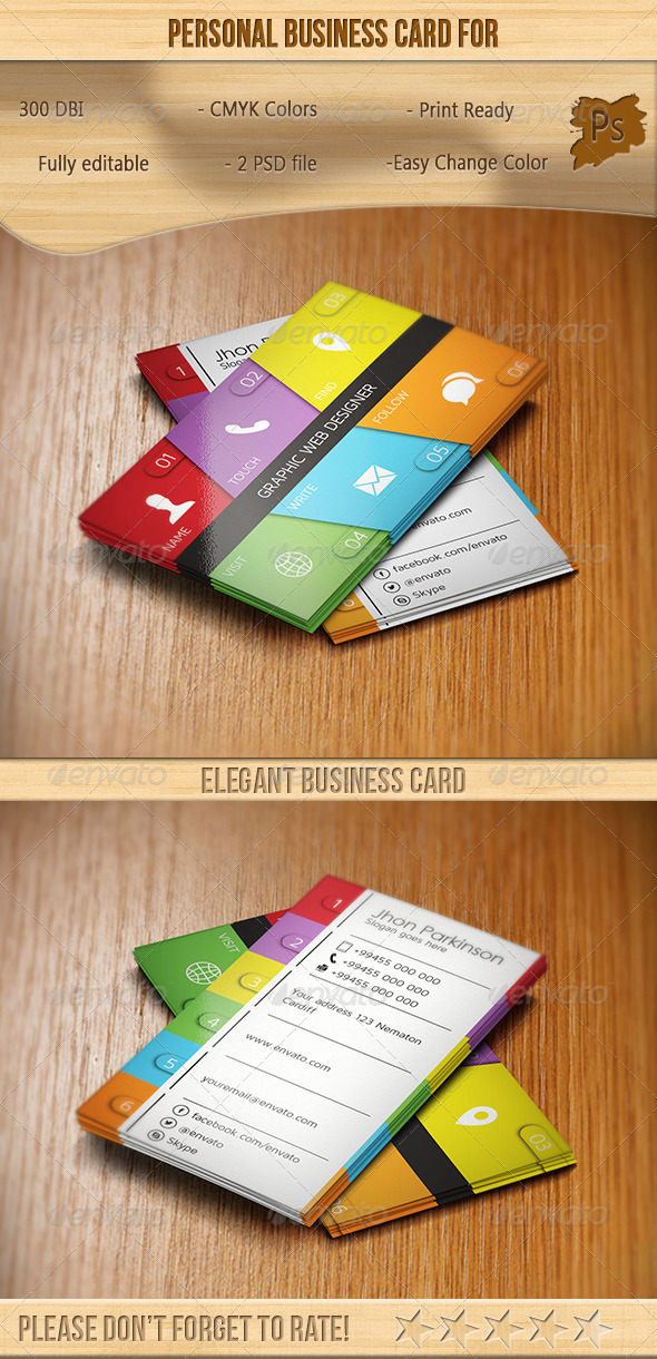 GraphicRiver Personal Business Card 6577811