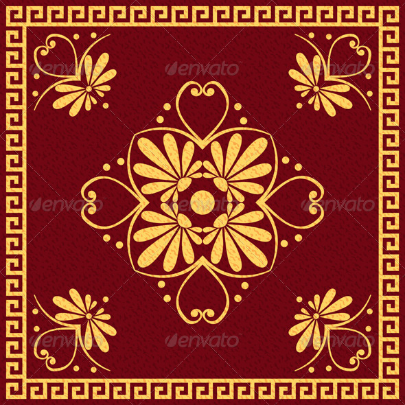 GraphicRiver Traditional Red and Gold Greek Ornament 6577862