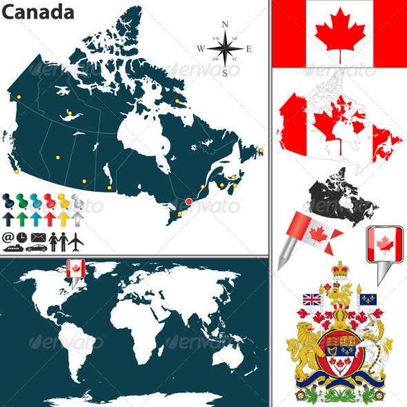 GraphicRiver Map of Canada 6578011