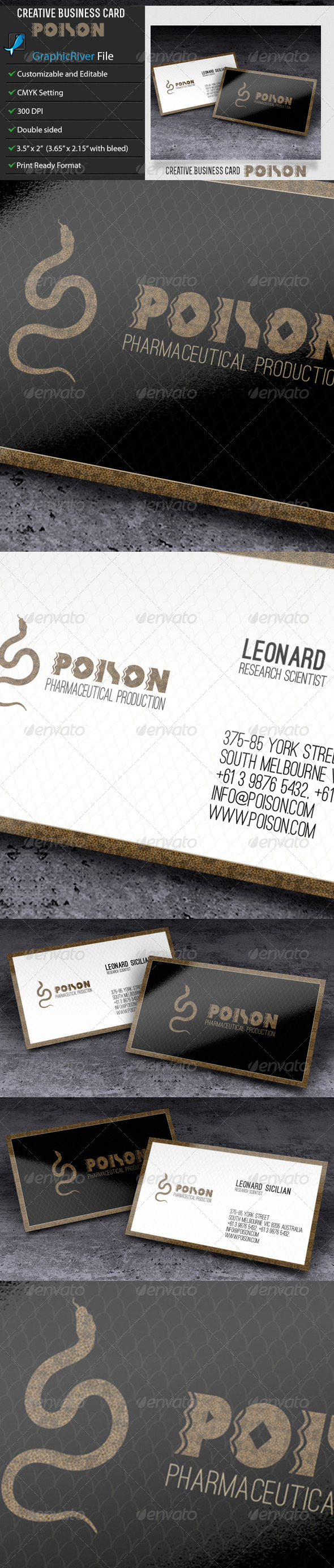 GraphicRiver Creative Business Card Poison 6578132