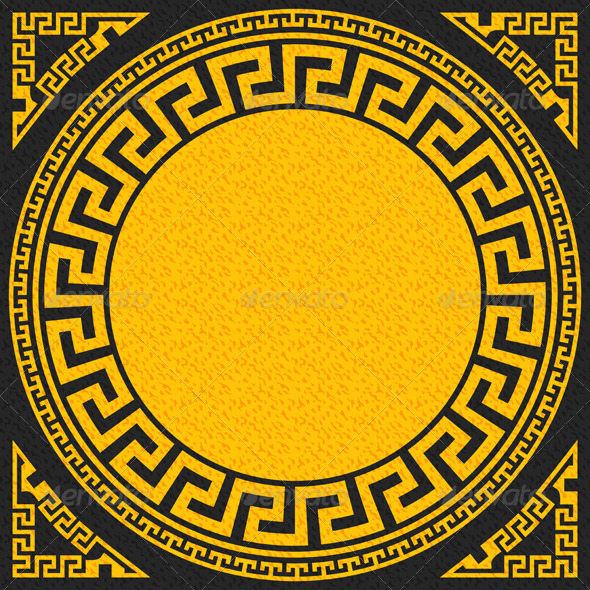 GraphicRiver Gold and Black Greek Ornament 6578378