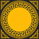 Gold and Black Greek Ornament - GraphicRiver Item for Sale