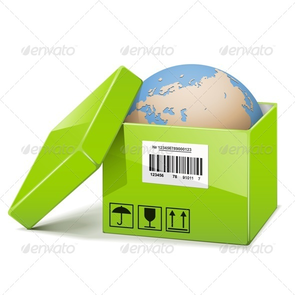 GraphicRiver Globe in Green Box 6578460