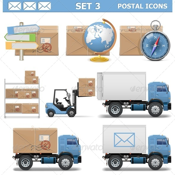 Postal Icons Set 3