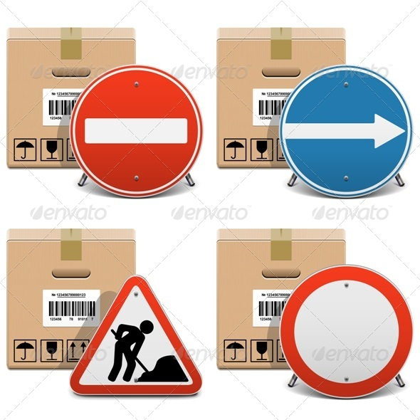 GraphicRiver Shipment Icons Set 23 6578474