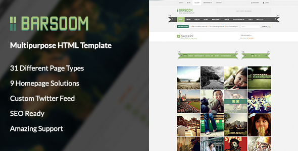 Barsoom HTML Multiple Purpose Template