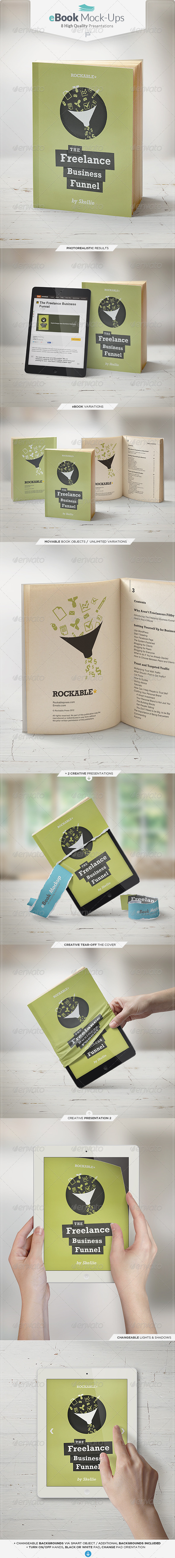 GraphicRiver eBook Mock-Up Set 6578872