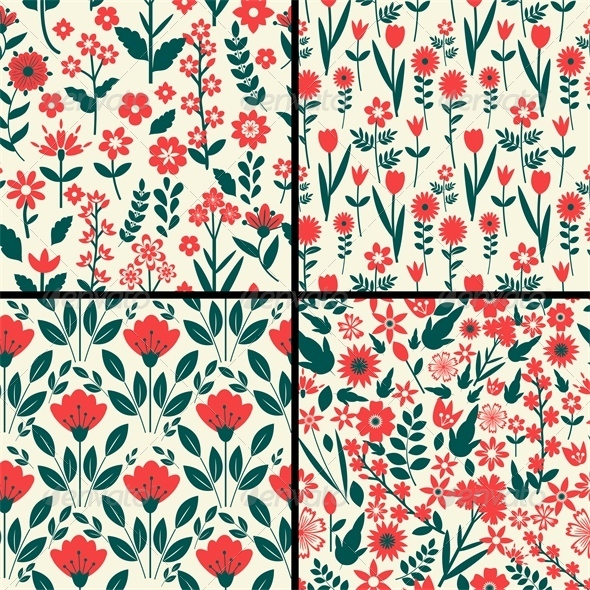 GraphicRiver Floral Patterns 6578993