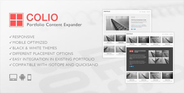 Colio - jQuery Portfolio Content Expander Plugin