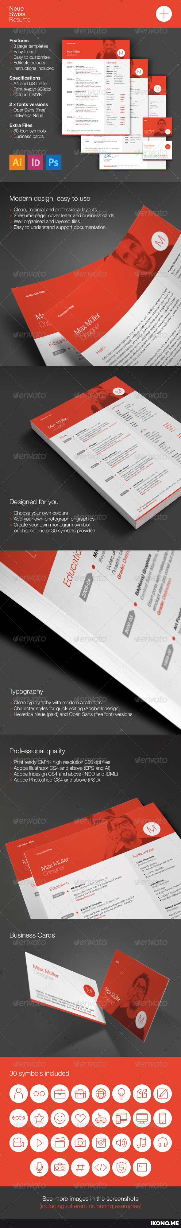 GraphicRiver Neue Swiss Resume 6579192