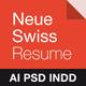 Neue Swiss Resume - GraphicRiver Item for Sale