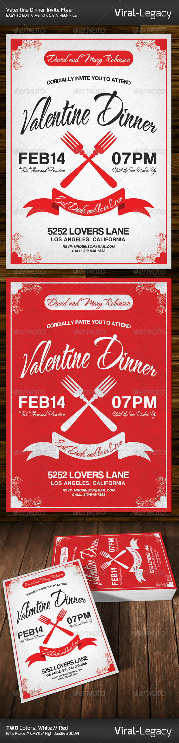 GraphicRiver Valentine Dinner Invitation 6579799