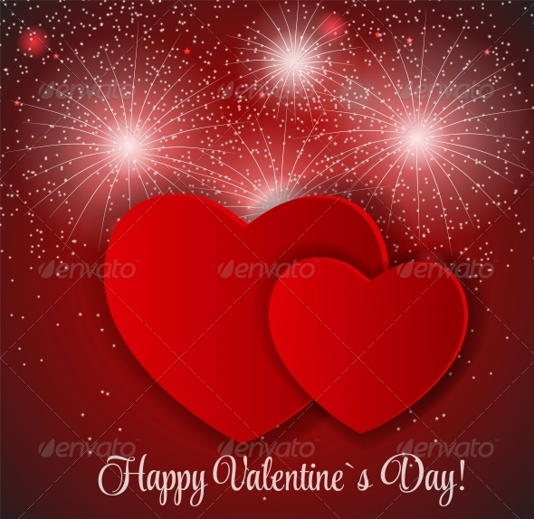 GraphicRiver Happy Valentines Day Card with Heart 6579879