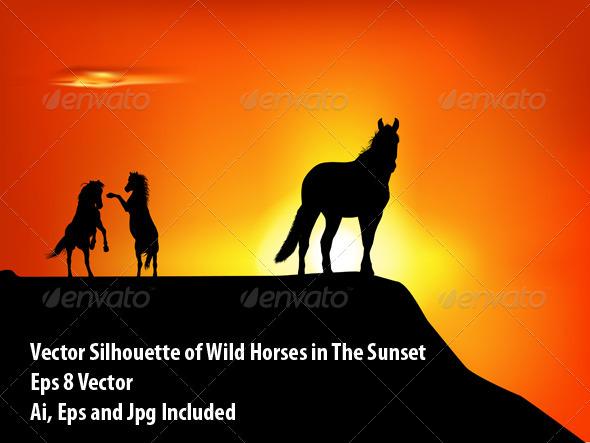 GraphicRiver Wild Horses 6579880