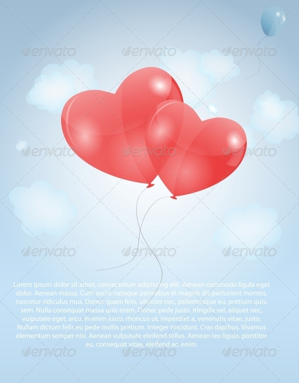 GraphicRiver Happy Valentines Day Card with Hearts 6579897