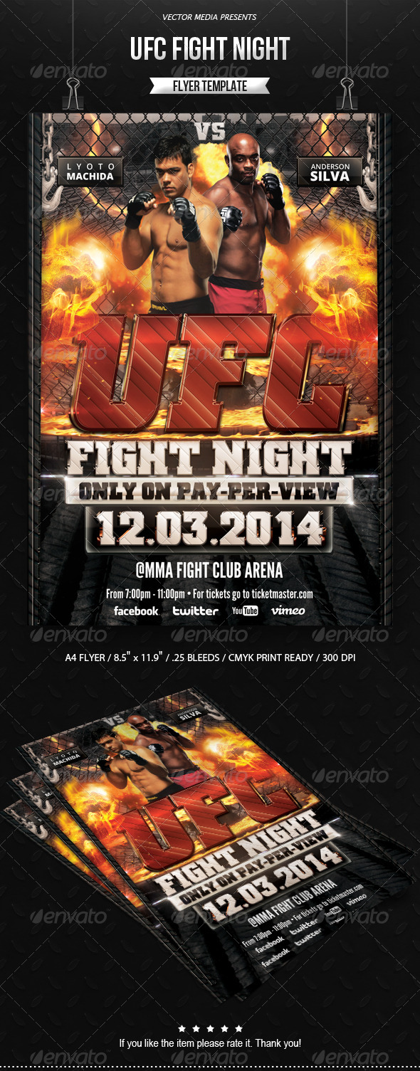 GraphicRiver UFC Fight Night Flyer 6580596