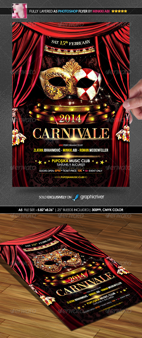 GraphicRiver Carnival 2014 Poster Flyer 6580621