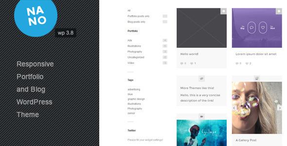 ThemeForest Nano Responsive Portfolio and Blog Theme 6565208