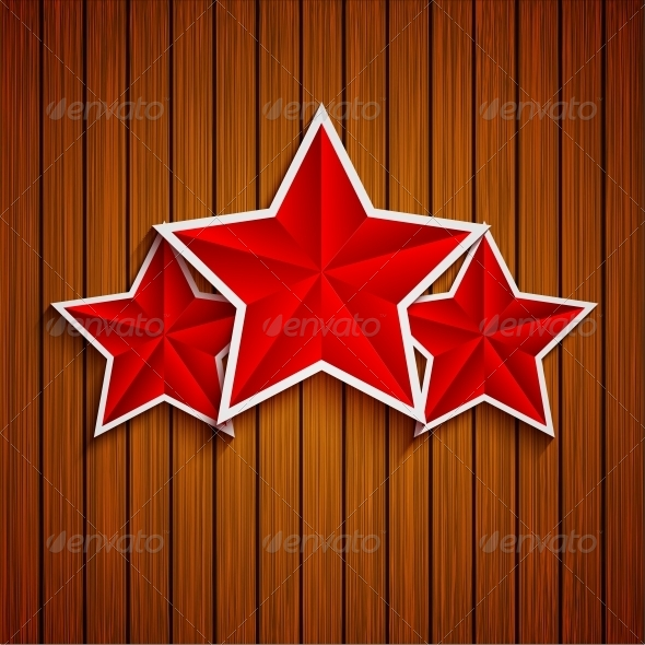 GraphicRiver Stars on Wood Background 6580653