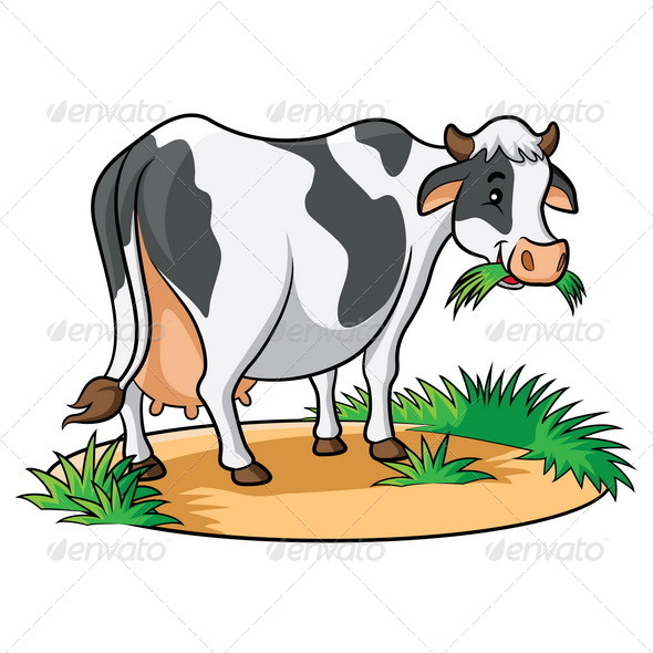 GraphicRiver Cow Cartoon 6580910