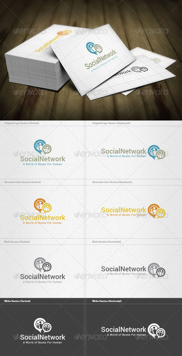 GraphicRiver Social Network Logo 6581259