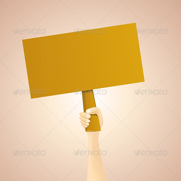 GraphicRiver Blank Wooden Hand Sign Background 6581439