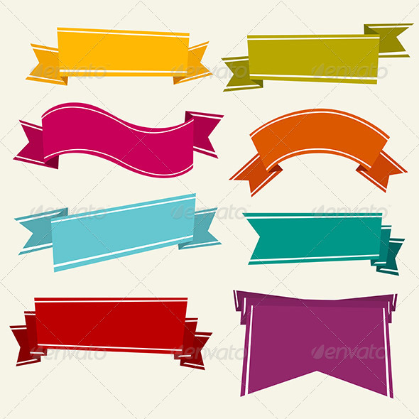 GraphicRiver Colorful Cartoon Ribbons 6581441