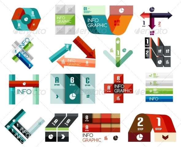 Set of Option Infographics Templates